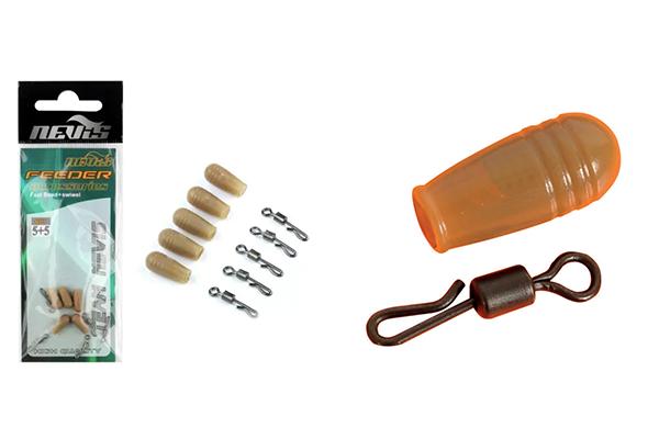 A feeder szerelékes táskában található gyorskapcsok.